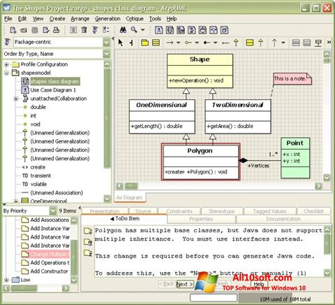 Screenshot ArgoUML Windows 10
