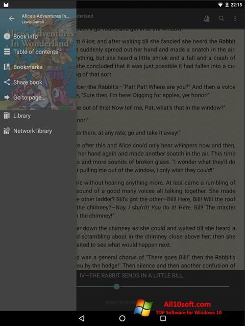 Screenshot FBReader Windows 10
