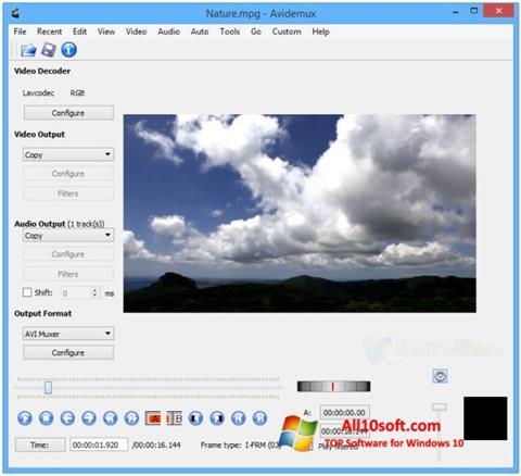 Screenshot Avidemux Windows 10