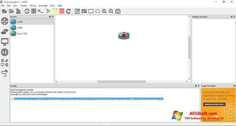 Screenshot GNS3 Windows 10