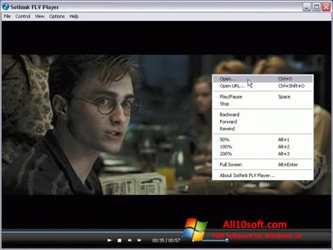 Screenshot FLV Player Windows 10