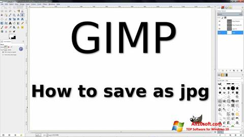 Screenshot GIMP Windows 10