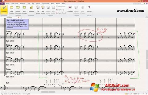 Screenshot Sibelius Windows 10