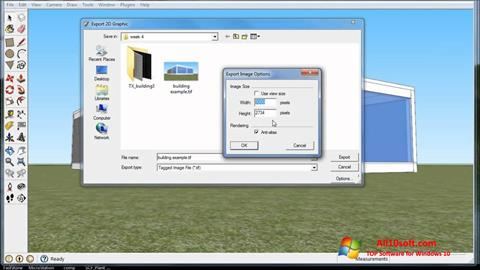 Screenshot SketchUp Windows 10