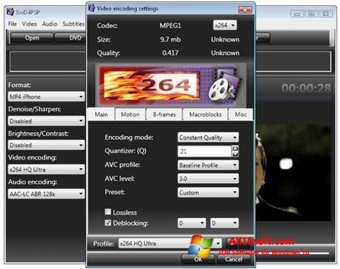 Screenshot XviD4PSP Windows 10