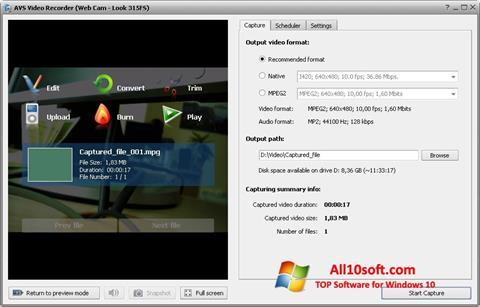Screenshot AVS Video Recorder Windows 10