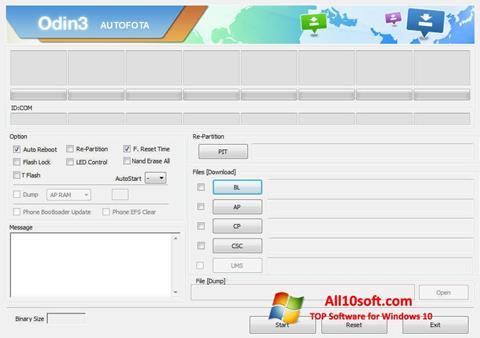 Screenshot Odin Windows 10