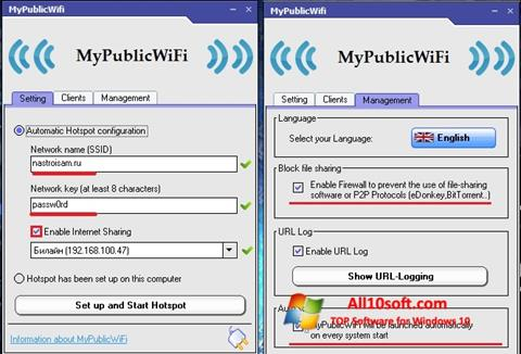 Screenshot MyPublicWiFi Windows 10