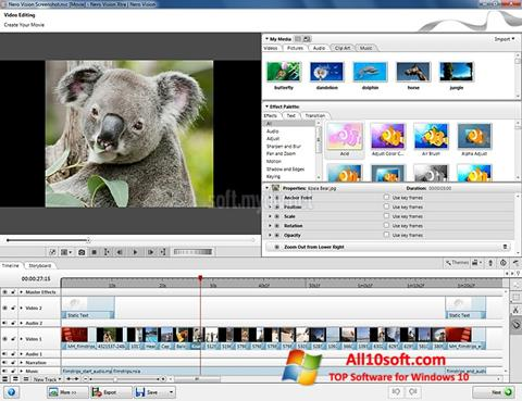Screenshot Nero Vision Windows 10