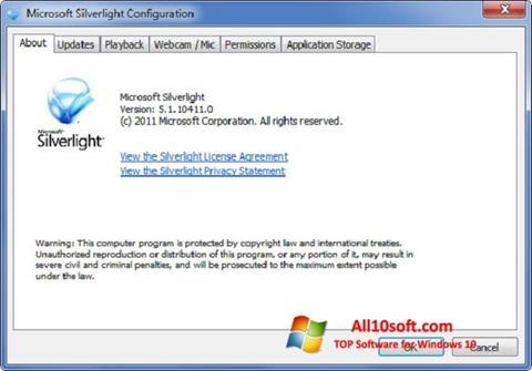 Screenshot Microsoft Silverlight Windows 10