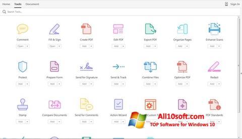 Screenshot Adobe Acrobat Pro Windows 10
