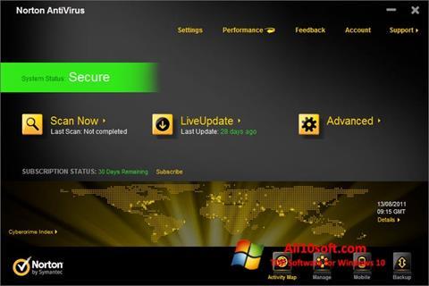 Screenshot Norton AntiVirus Windows 10