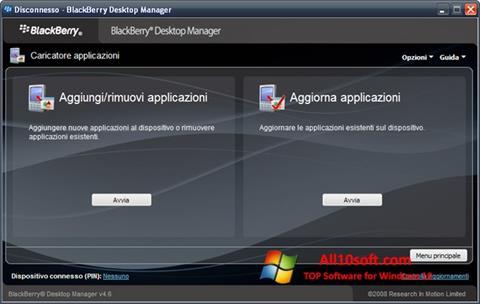 Screenshot BlackBerry Desktop Manager Windows 10