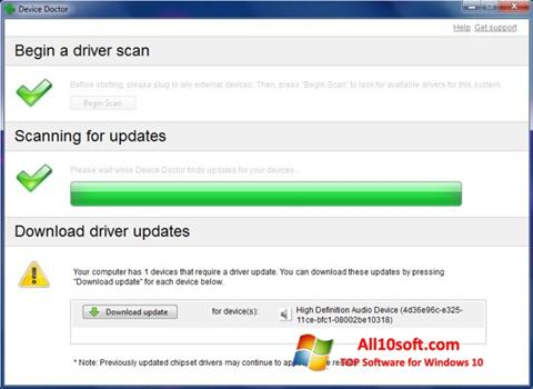 Screenshot Device Doctor Windows 10