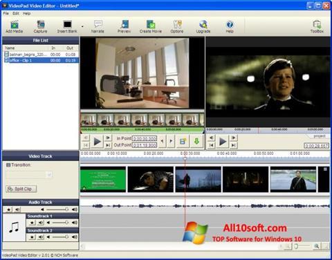 Screenshot VideoPad Video Editor Windows 10