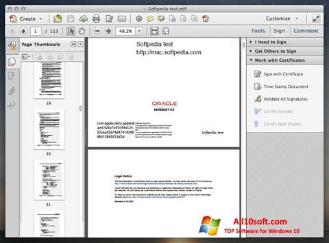 Screenshot Adobe Acrobat Windows 10