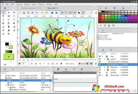 Screenshot Synfig Studio Windows 10
