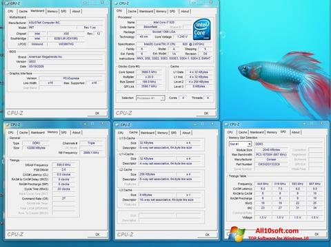 Screenshot CPU-Z Windows 10
