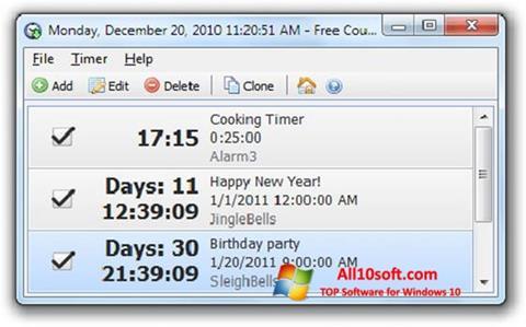 Screenshot Free Countdown Timer Windows 10