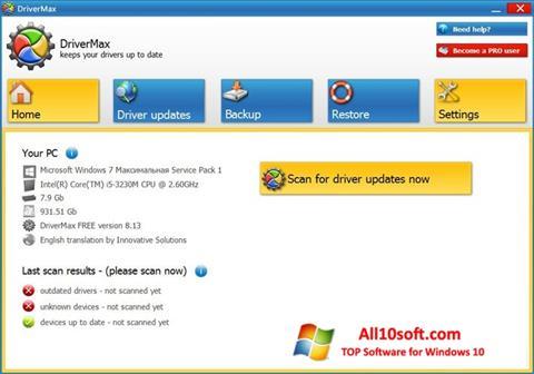 Screenshot DriverMax Windows 10
