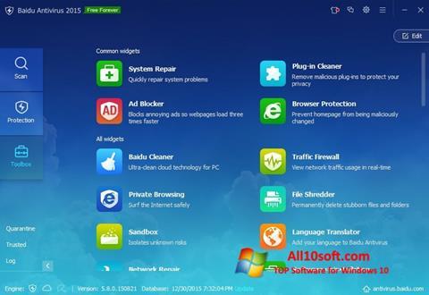 Screenshot Baidu Antivirus Windows 10