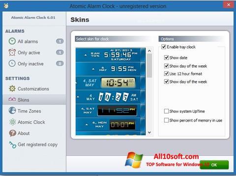 Screenshot Atomic Alarm Clock Windows 10