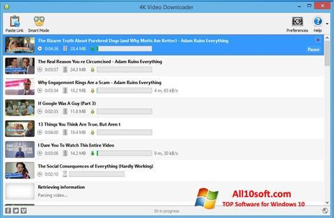 Screenshot 4K Video Downloader Windows 10