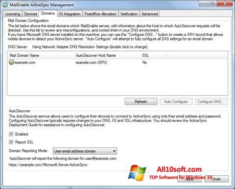 Screenshot Microsoft ActiveSync Windows 10