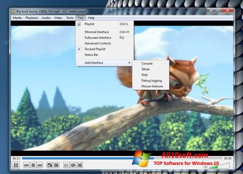 Screenshot VLC Media Player Windows 10