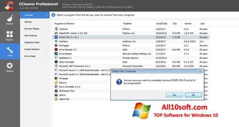 Screenshot CCleaner Professional Plus Windows 10
