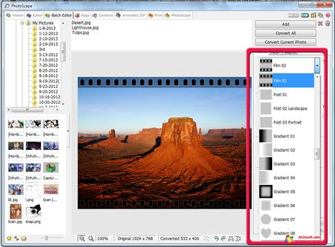 Screenshot PhotoScape Windows 10