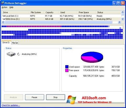 Screenshot Defraggler Windows 10