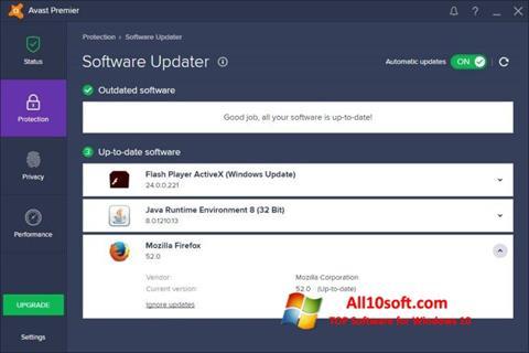 Screenshot Avast Premier Windows 10