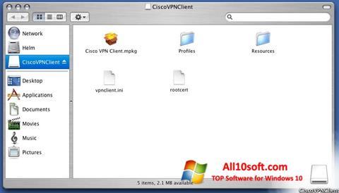 Screenshot Cisco VPN Client Windows 10