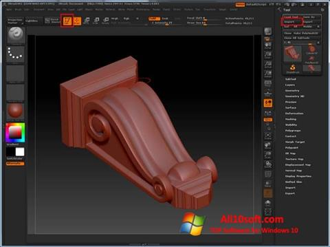 Screenshot ZBrush Windows 10
