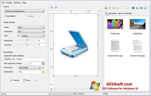 Screenshot WinScan2PDF Windows 10