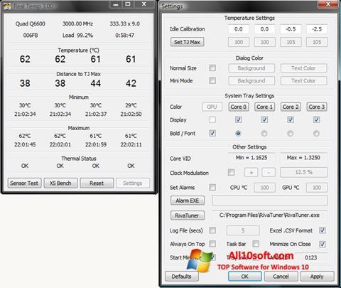 Screenshot Real Temp Windows 10