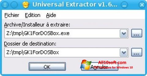 Screenshot Universal Extractor Windows 10