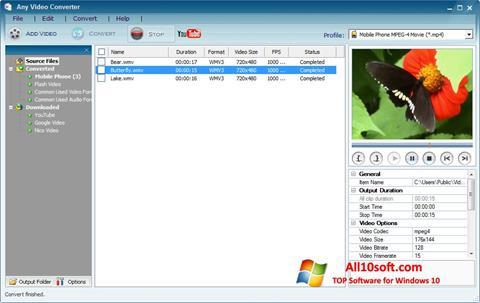 Screenshot Any Video Converter Windows 10