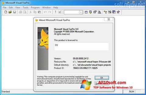 Screenshot Microsoft Visual FoxPro Windows 10