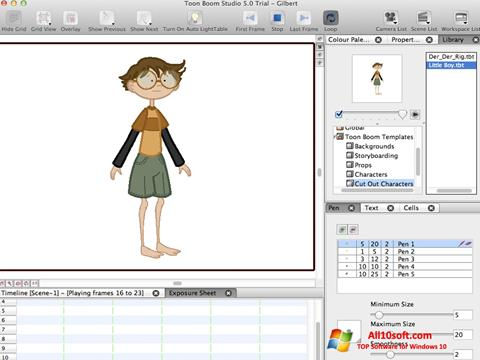 Screenshot Toon Boom Studio Windows 10