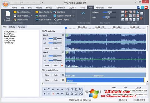 Screenshot AVS Audio Editor Windows 10
