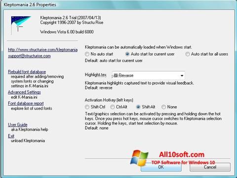 Screenshot Kleptomania Windows 10