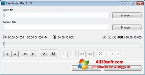 Screenshot Free Audio Dub Windows 10