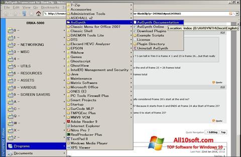 Screenshot AviSynth Windows 10