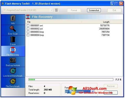 Screenshot Flash Memory Toolkit Windows 10