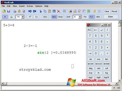Screenshot RedCrab Calculator Windows 10