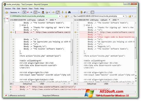 Screenshot Beyond Compare Windows 10