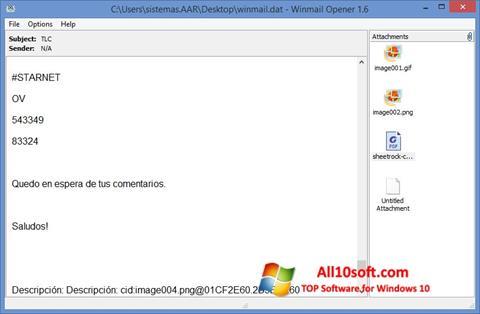 Screenshot Winmail Opener Windows 10