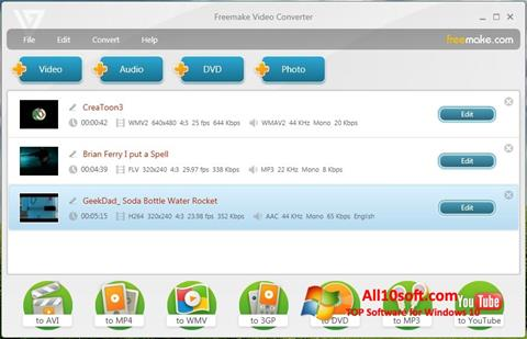 Screenshot Freemake Video Converter Windows 10